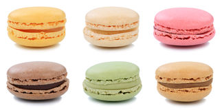 Collection of macarons macaroons cookies collection dessert from Stock Photography