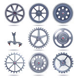 Collection machine gear Stock Photo