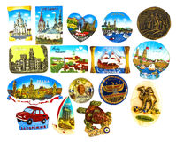 Collection of magnets Royalty Free Stock Photo