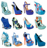 Collection magnifique de chaussures Photos libres de droits