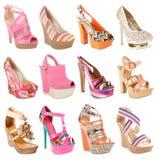 Collection magnifique de chaussures Photographie stock libre de droits