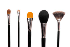 Collection of make-up brushes Royalty Free Stock Image