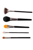 Collection of make-up brushes Stock Photos