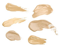 Collection of make up liquid foundation strokes Stock Images