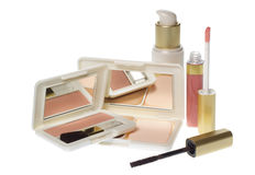Collection of make up products Royalty Free Stock Photography