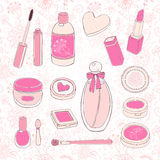 Set of cosmetics Stock Image