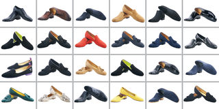 Collection of male and female shoes Royalty Free Stock Image