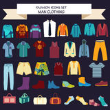 Collection of man  clothes and accessories Stock Photo