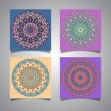 Collection of mandala designs Stock Image