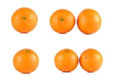 Collection Mandarin orange isolated on white background Stock Images