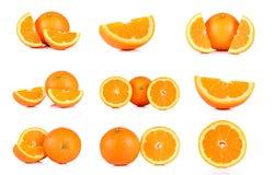 Collection Mandarin orange isolated on white background Royalty Free Stock Photo