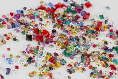 Collection of many different natural gemstones. Royalty Free Stock Photography