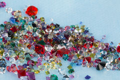 Collection of many different natural gemstones. Stock Images