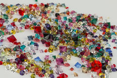 Collection of many different natural gemstones. Stock Photos