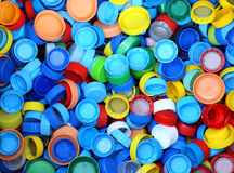 collection of many plastic caps for recycling the material Stock Photo