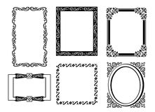Collection of many vintage picture frames.Vector Stock Images