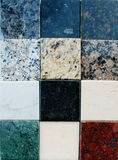 Collection of marble and granite stones Royalty Free Stock Photo