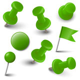 Collection of marking accessories - green Royalty Free Stock Image