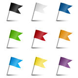 Collection of marking accessories - marking flags Stock Image