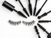 Collection of a mascara brushes on white background. each one is shot separately Royalty Free Stock Photography