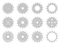 Collection of mashine gear wheels Stock Photos