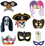 Collection of masks for designers Royalty Free Stock Photos