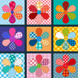 Collection of material flowers Stock Images