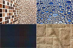 Collection of materials textures Royalty Free Stock Photos