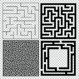 Collection of maze with solution. Vector Labyrinth set. Stock Photography
