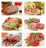 Collection of meat food. For restaurant menu royalty free stock photo