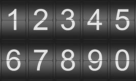 Collection of mechanical numbers Royalty Free Stock Photography