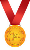 Collection of medals in gold, silver and bronze. Royalty Free Stock Image