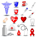 Collection of medical icons. Set of 16 medical icons vector illustration