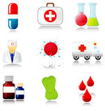 Collection of medical icons Stock Photography
