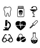 Collection of medical icons Royalty Free Stock Photos