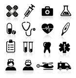 Collection of medical icons Stock Image