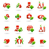 Collection medical icons Royalty Free Stock Photography