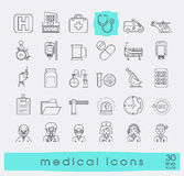 Collection of medical icons. Stock Photo
