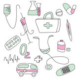 Collection of medical signs Royalty Free Stock Photography