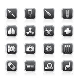 Collection of  medical themed icons and warning-signs. Vector Icon Set Stock Photography