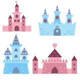 Collection of medieval castles Stock Photography