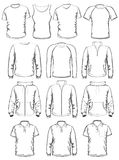 Collection of men clothes outline templates Royalty Free Stock Photography