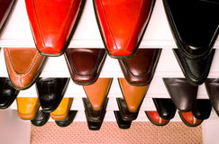 Collection of men footwear Royalty Free Stock Photography