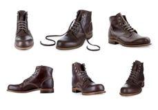 Collection men footwear Stock Photos