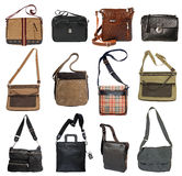 Collection of men's bags Stock Photo