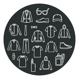 Collection of Men's Clothes and accessories Stock Image