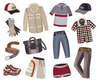 Collection of men's clothing Royalty Free Stock Image