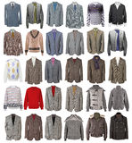 Collection of men's jackets Royalty Free Stock Photography