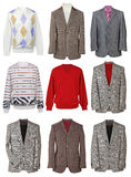 Collection of men's jackets Royalty Free Stock Photos