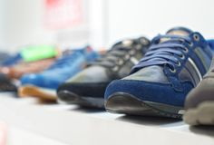 Shoes in the store. royalty free stock images